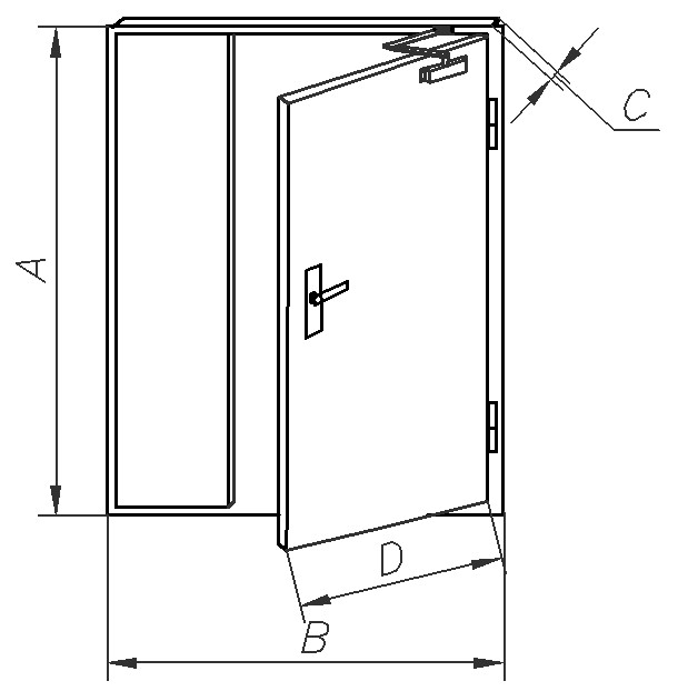дверь стальная утепленная двупольная цена